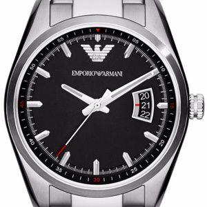 Emporio Armani Sportivo Silver/Black Quartz Men's
